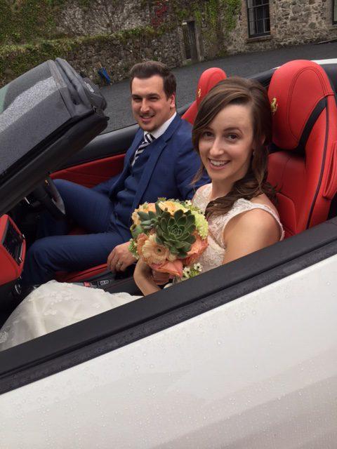 White Wedding Transport at Wedding Journal Show